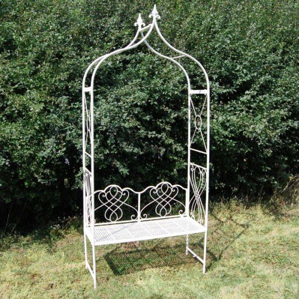Avalon Arbor Garden Seat in Cream