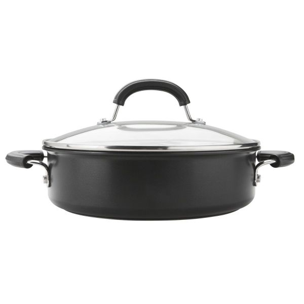 Circulon Total Hard Anodised Sauteuse Pan 28cm 5L with lid Non-Stick