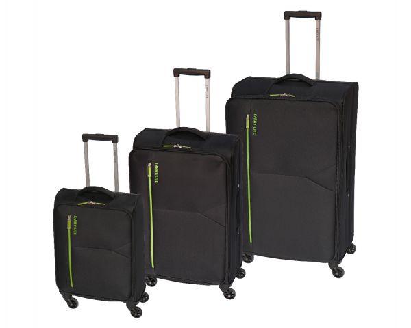 Skyflite Carry:Lite Bemuda Spinner Small Trolley Case in Black 30 Litres