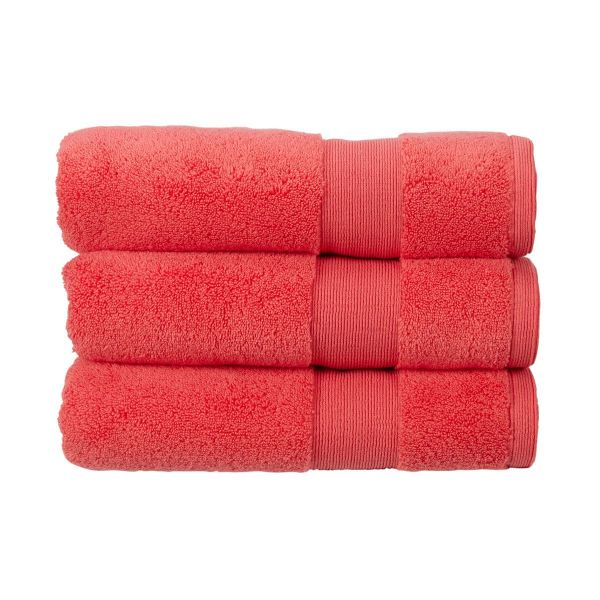 Christy Towels Carnival Bath Mat in Coral