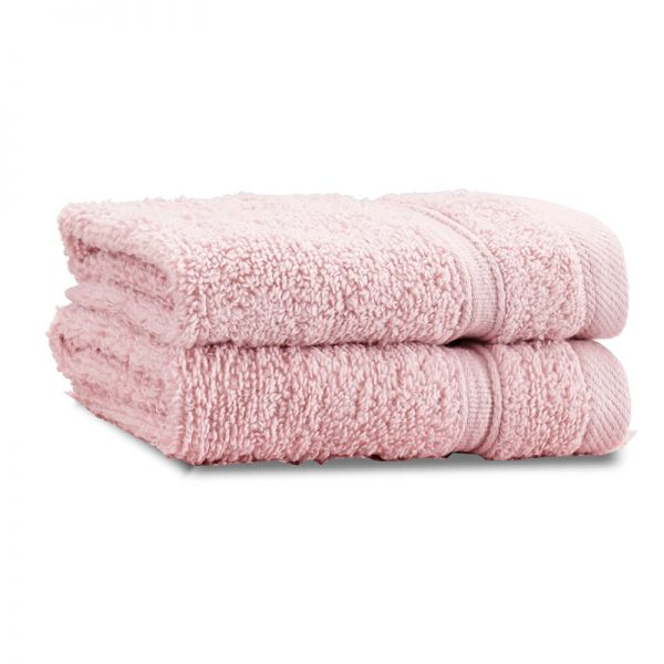 Catherine Lansfield Zero Twist  30X30Cm Face Cloth Pair Pink