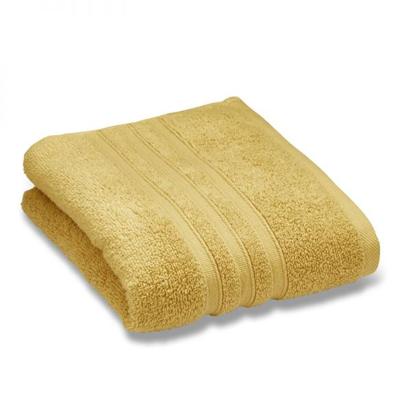 Catherine Lansfield Zero Twist  30X30Cm Face Cloth Pair Ochre
