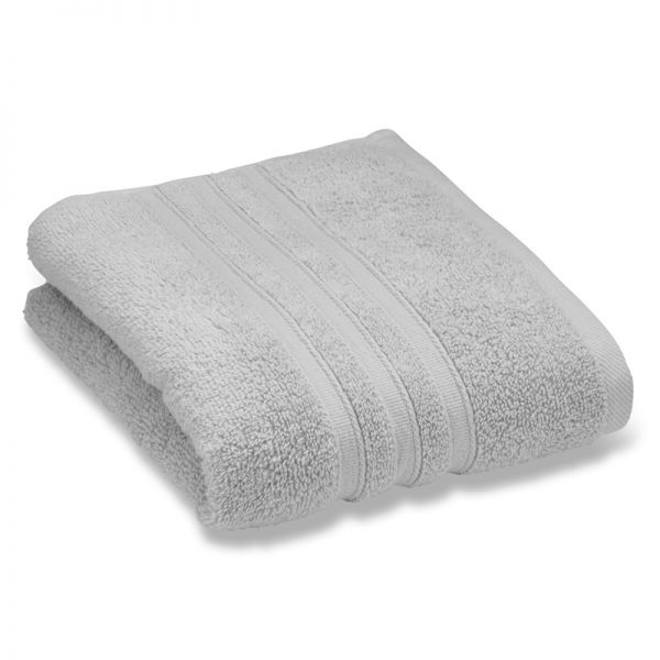 Catherine Lansfield Zero Twist 70X120Cm Bath Towel Silver