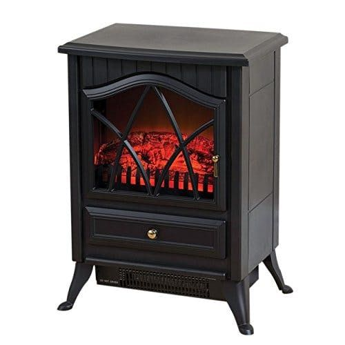 Daewoo Black Stove Heater HEA1200 with Real Flame Effect