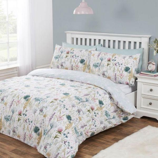 Julian Charles Ella Floral Cotton Rich 180 Thread Count Reversible Duvet Set
