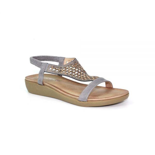 Lunar JLH112 Flamenco Fashion Sandal in Grey