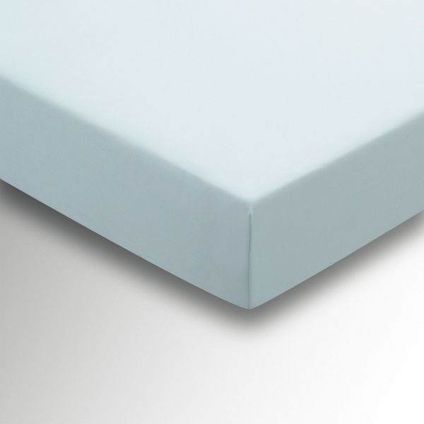 Helena Springfield Plain Dye Fitted Sheet for Double Bed Duck Egg