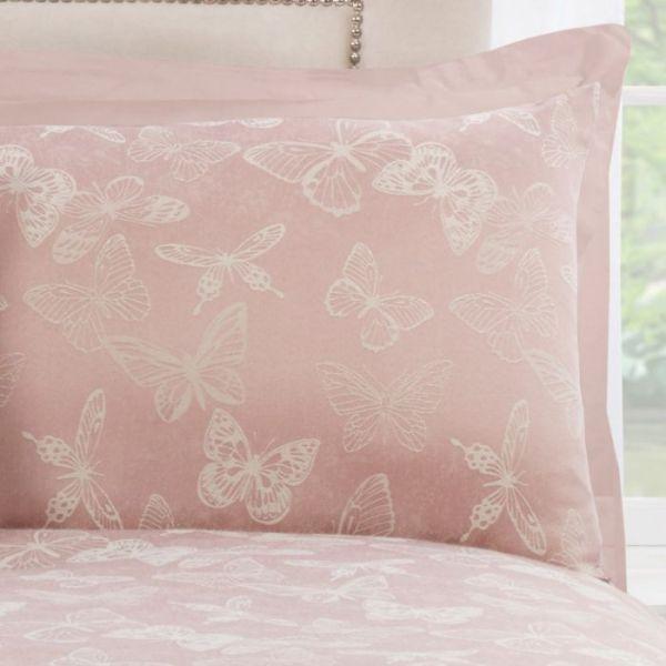 Julian Charles Butterfly Blush Housewife Pillowcase (Pair)