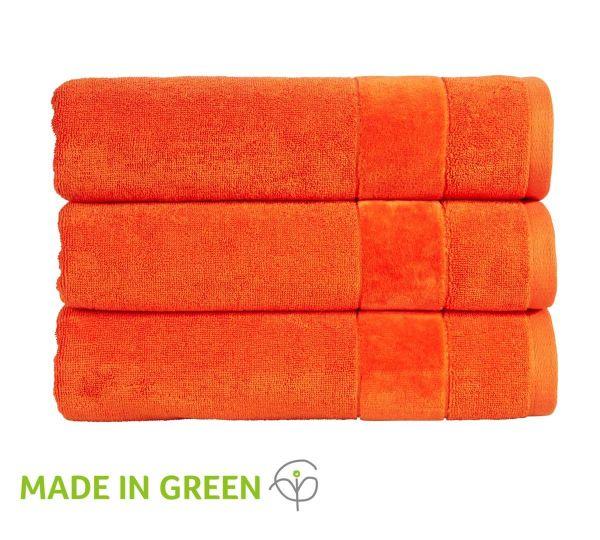 Christy Towels Prism Guest Towel in Orangeade