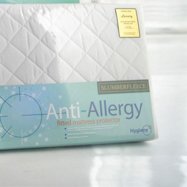 Slumberfleece Anti-Allergy Mattress Protector King Size (150cm x 200cm)