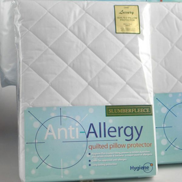 Slumberfleece Anti-Allergy Quilted Pillow Protector (76cm x 50cm)