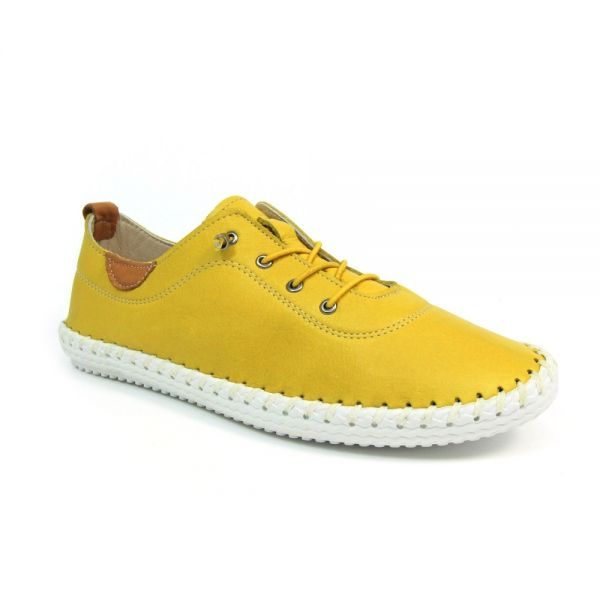 Lunar FLE030 St Ives Plimsoll in Yellow