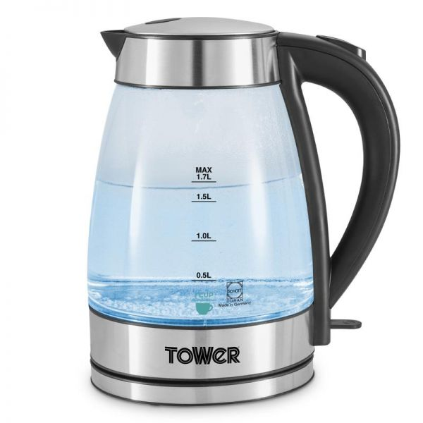 Brand New Tower T10057 3000W 1.7L Colour Changing Glass Kettle