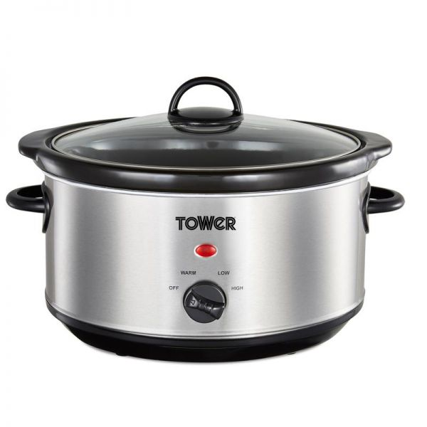 Tower 3.5L Slow Cooker Stainless Steel