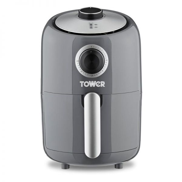 Tower 1000W 1.6L Compact Manual Air Fryer Grey