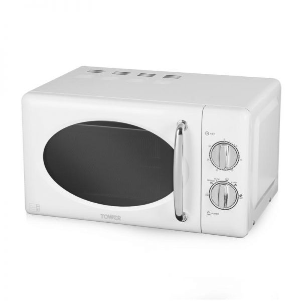 Tower 800W 20L Manual Microwave with Stainless Steel Int