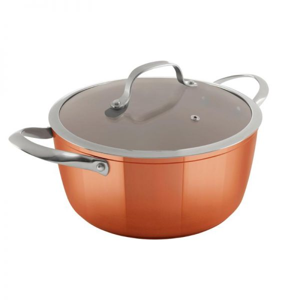 Tower Copper Forged 24cm Casserole