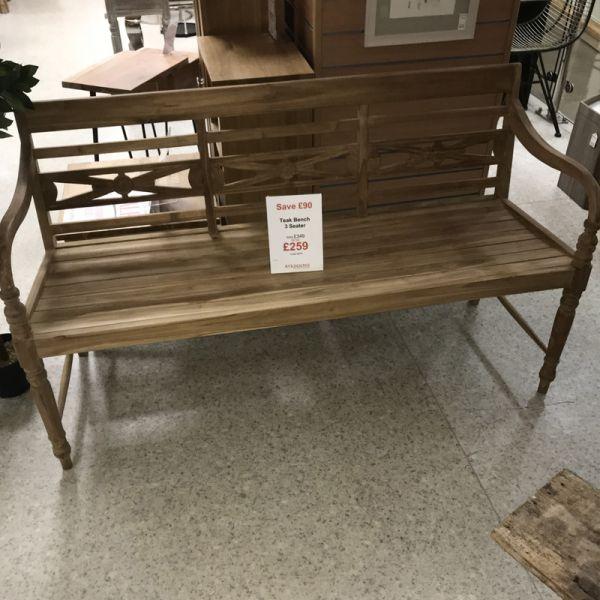 Teak Wooden Batavia Garden Bench