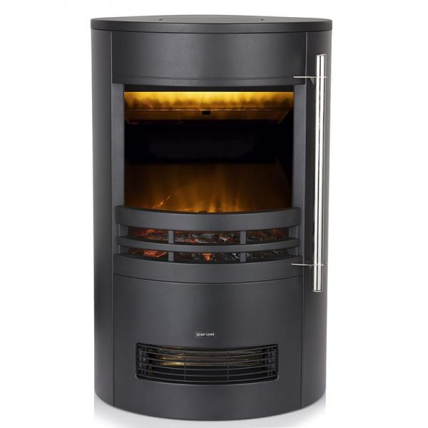 Warmlite Elmswell 2KW Round Contemporary Flame Effect Stove